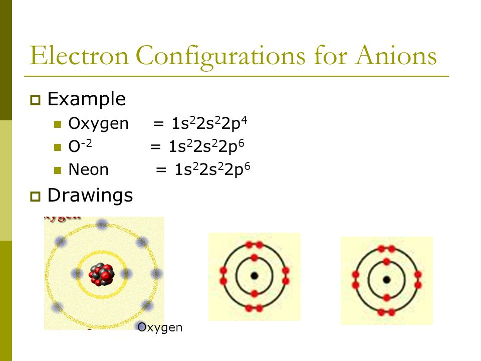 Anions  Nonmetals will have many valence electrons (usually 5 or more)  They will gain electrons to fill outer shell.