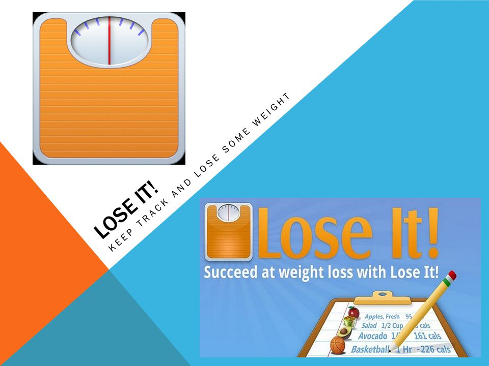 LOSE IT! KEEP TRACK AND LOSE SOME WEIGHT