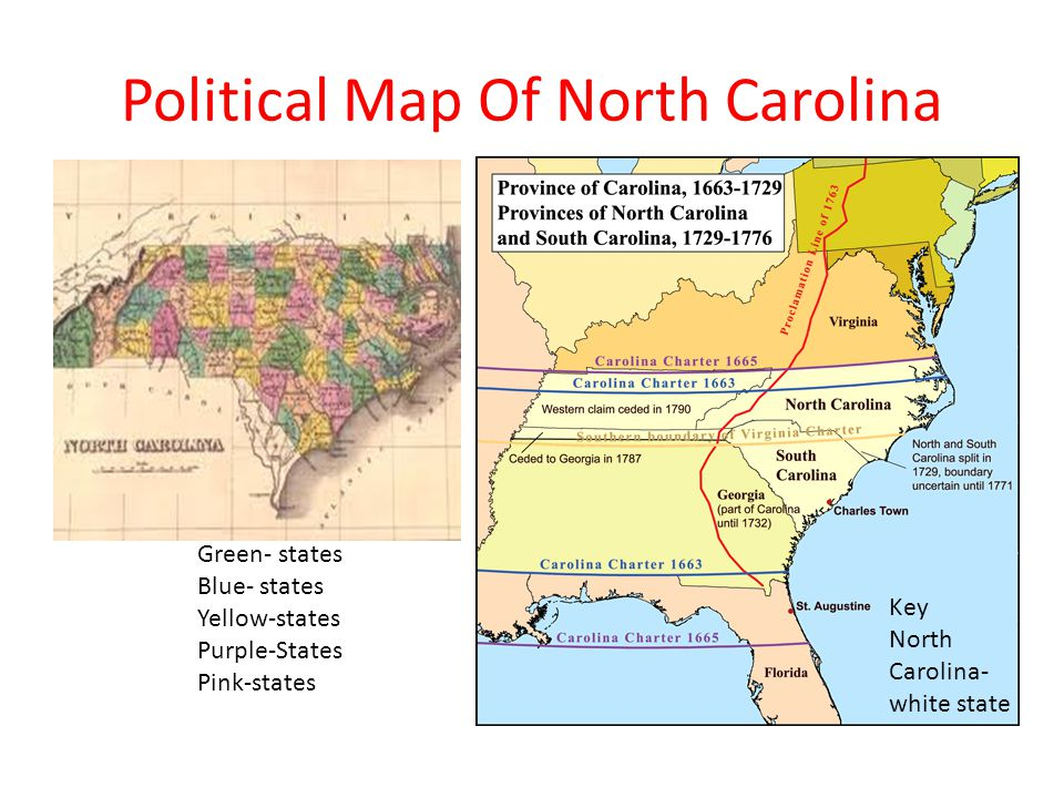 North Carolina By Christian Cramer Alex Rainey Ppt Download - North carolina political map