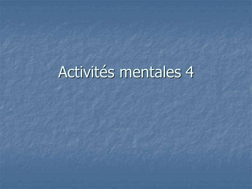 Activités mentales 4