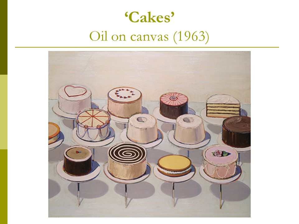 'Cakes' Oil on canvas (1963)