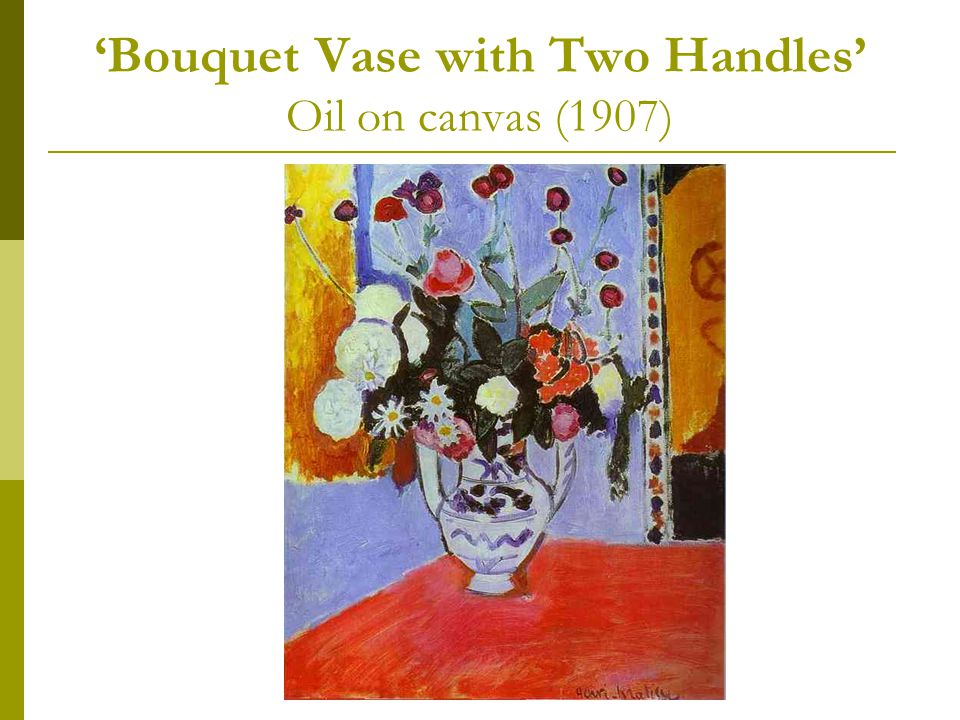 'Bouquet Vase with Two Handles' Oil on canvas (1907)