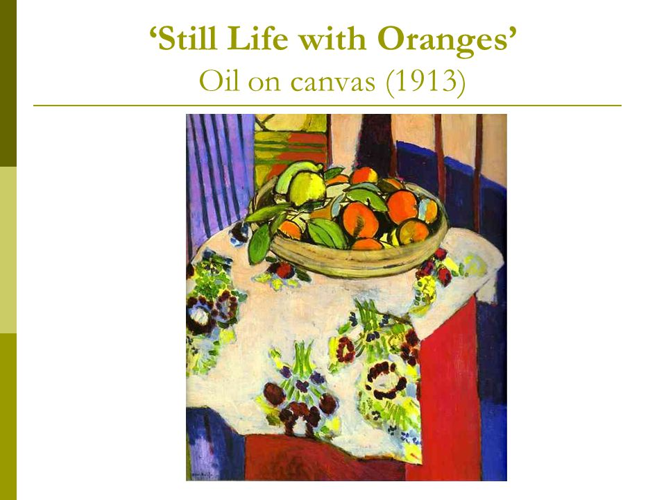 'Still Life with Oranges' Oil on canvas (1913)