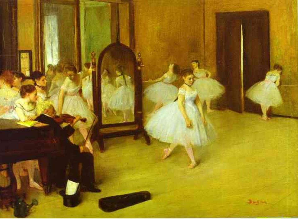 Edgar Degas was from a wealthy banking family, and although he studied law… he eventually became a serious painter.