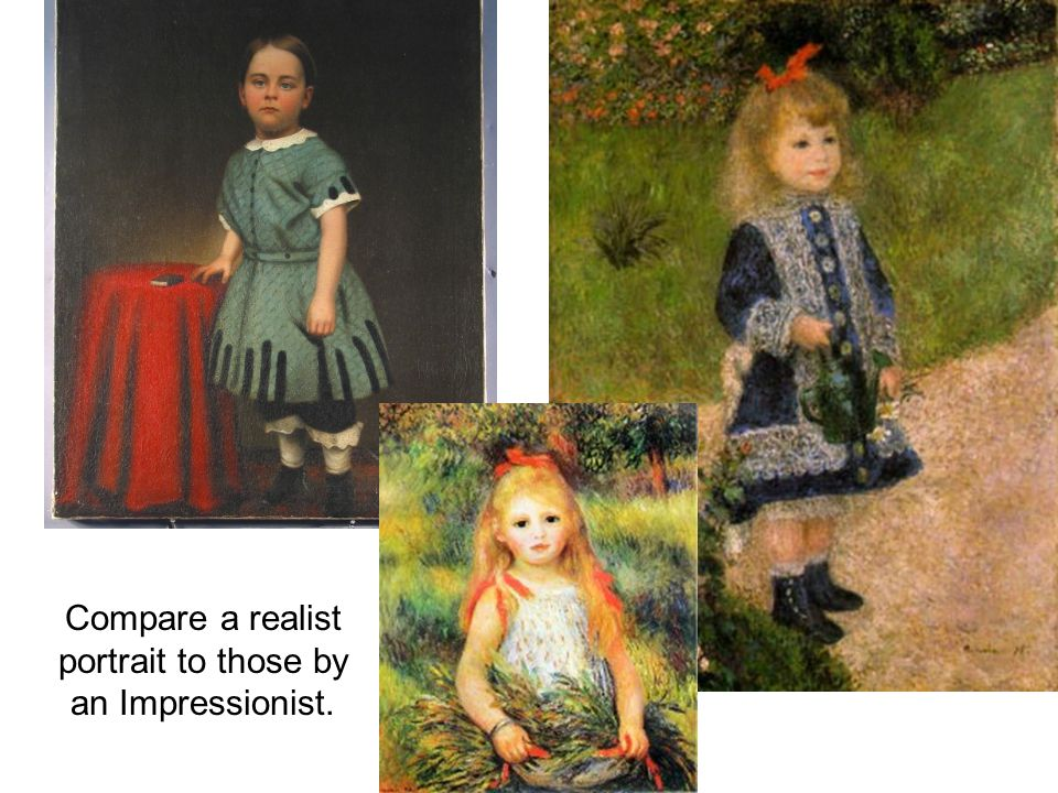 Compare a realist still life to one by an Impressionist.