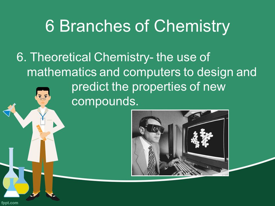6 Branches of Chemistry 6.