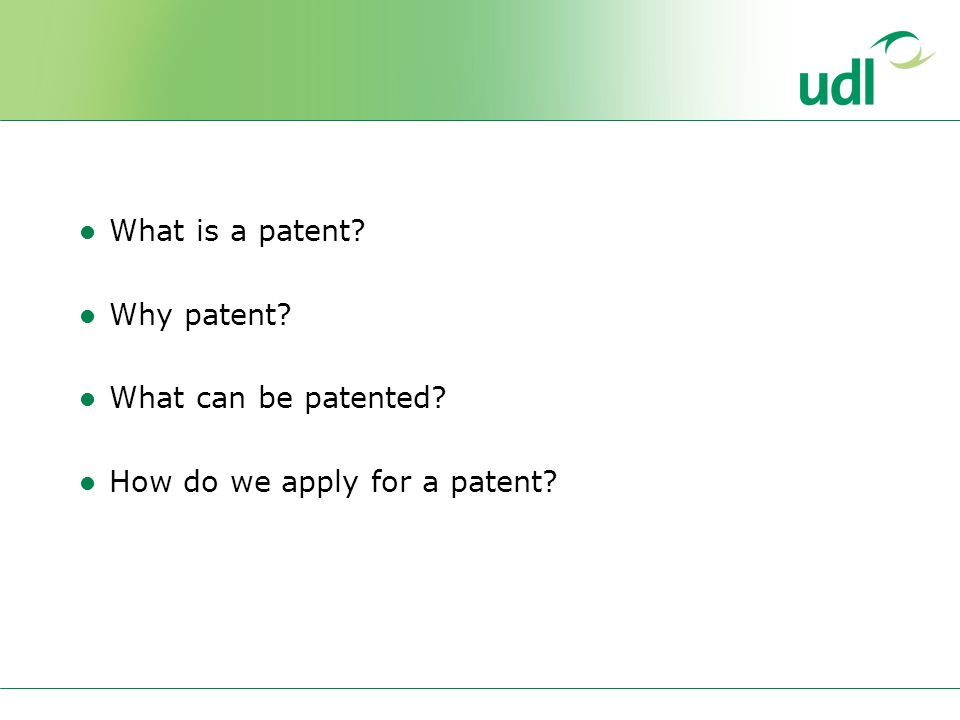 What is a patent Why patent What can be patented How do we apply for a patent