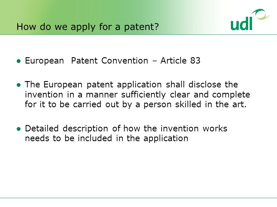 How do we apply for a patent.