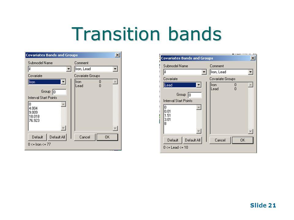 Slide 21 Transition bands