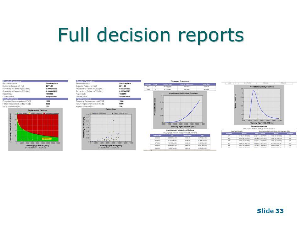 Slide 33 Full decision reports
