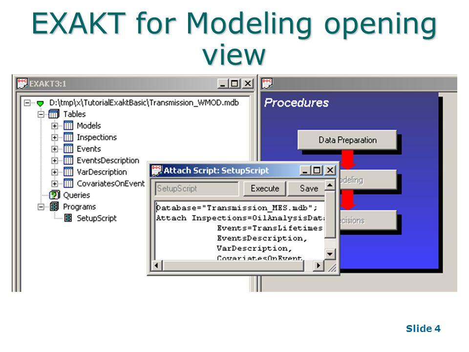 Slide 4 EXAKT for Modeling opening view