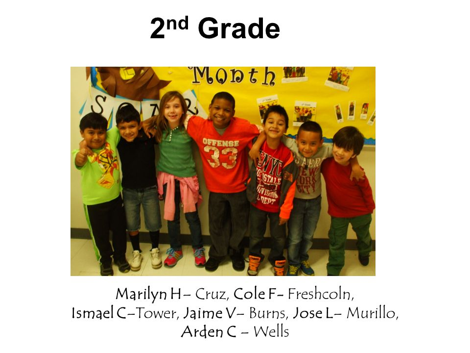 3 rd Grade Daniel B– Black, Josue G – Bye, Brian S - Kelly Yadira P – Storey, Mya D– Daniel