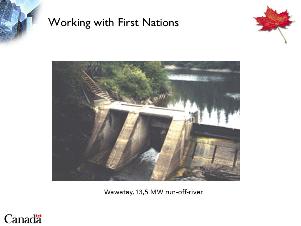 Working with First Nations Wawatay, 13,5 MW run-off-river