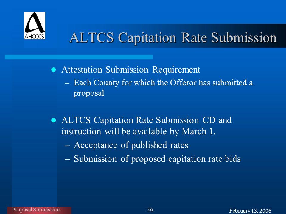 February 13, 2006 AHCCCS Offerors' Orientation ARIZONA LONG TERM ...