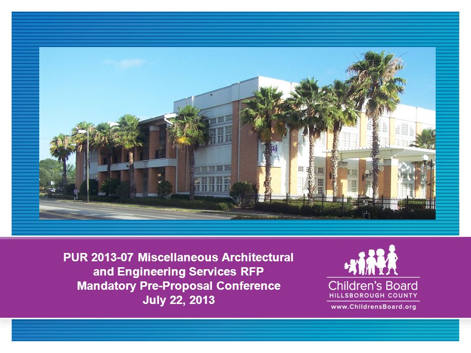 1 PUR 2013 07 Miscellaneous Architectural And Engineering Services RFP ...