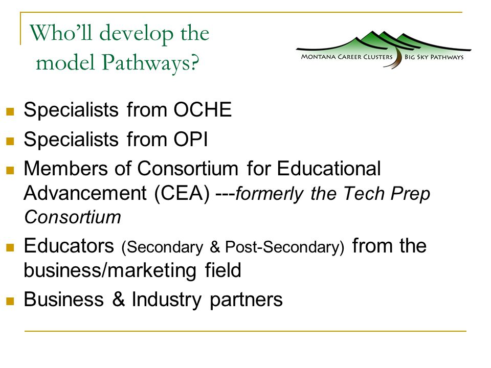 Who'll develop the model Pathways.
