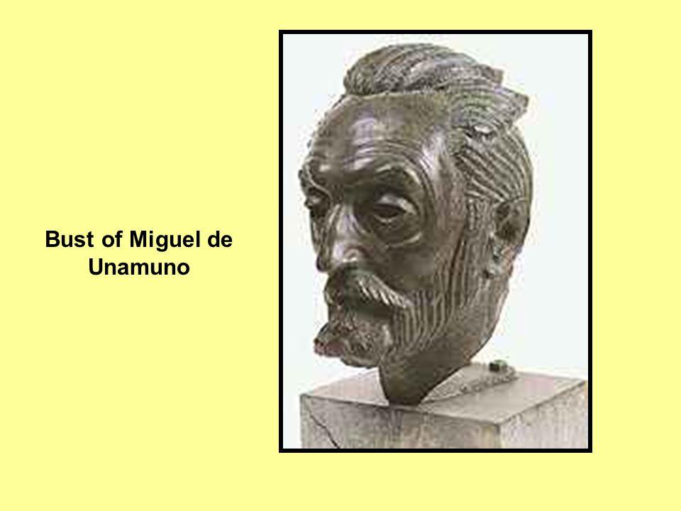 Bust of Miguel de Unamuno