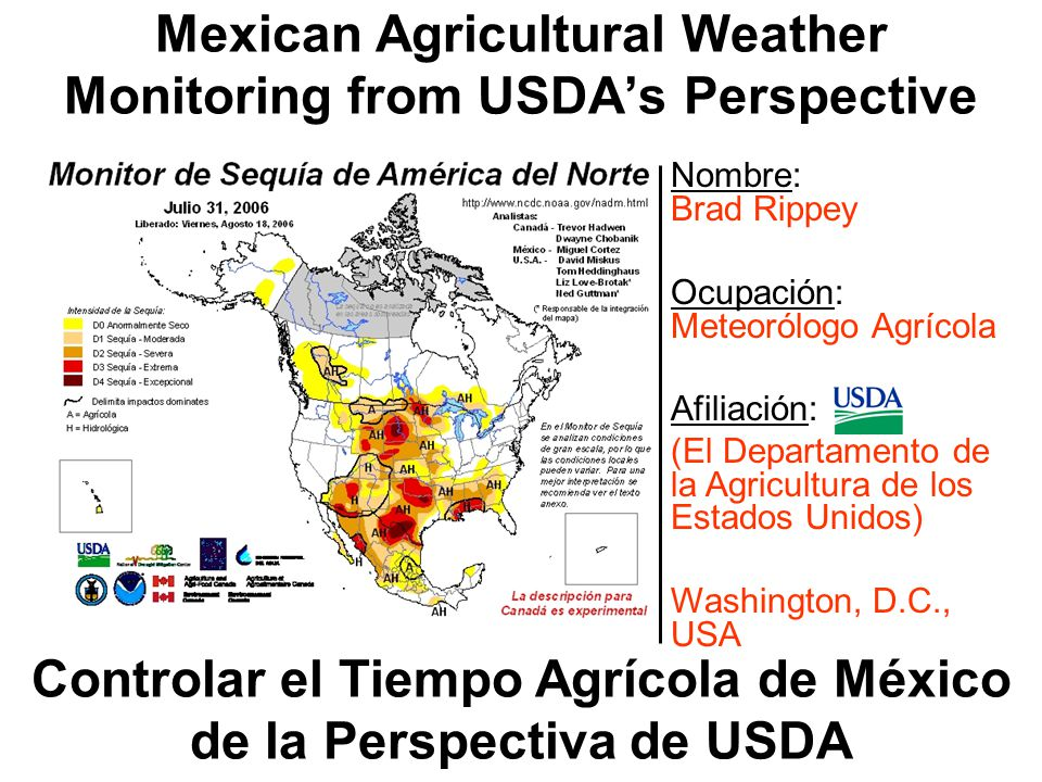 World Agricultural Outlook Board Joint Agricultural Weather Facility Cumulative Rainfall (mm) July 30 – August 5, 2006 0-1 mm 1-10 mm 10-25 mm 25-50 mm 50-100 mm 100-200 mm 200-400 mm WMO Station analysis
