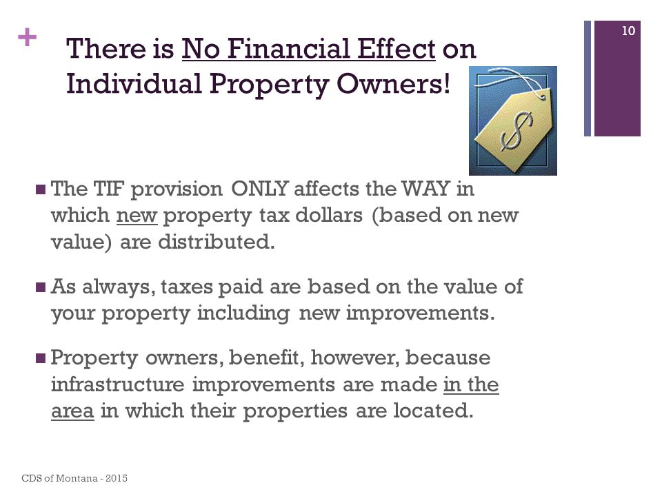 + There is No Financial Effect on Individual Property Owners.