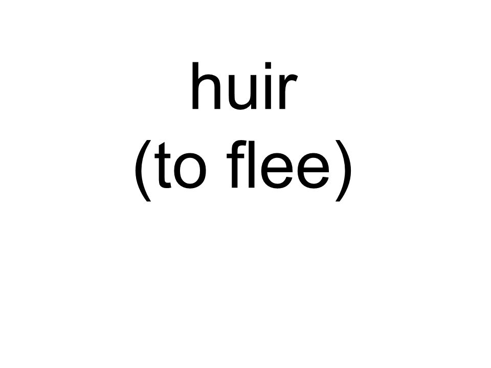 huir (to flee)