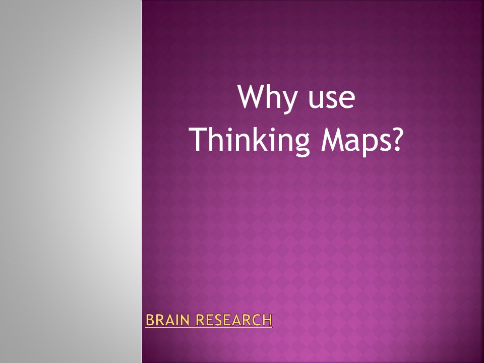 Why use Thinking Maps