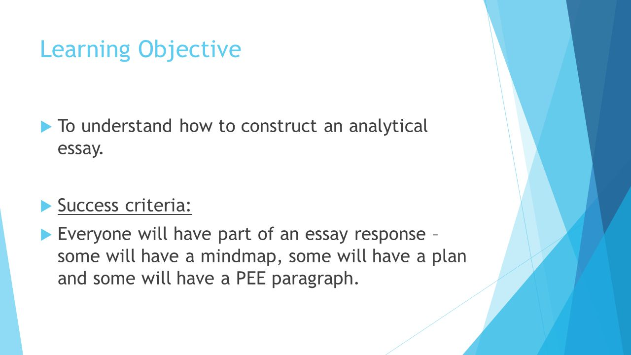 learning objective essay