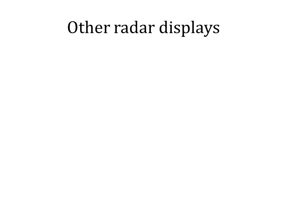 Other radar displays