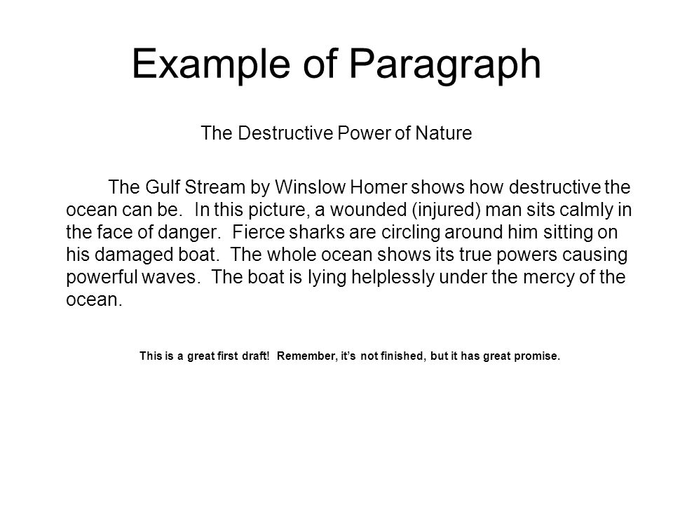 descriptive writing using the paintings of winslow homer ppt  7 example
