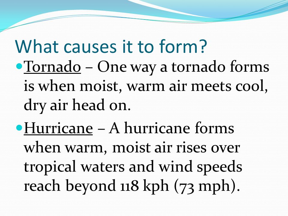 Thunderstorms, Tornadoes, and Hurricanes. Different names for ...