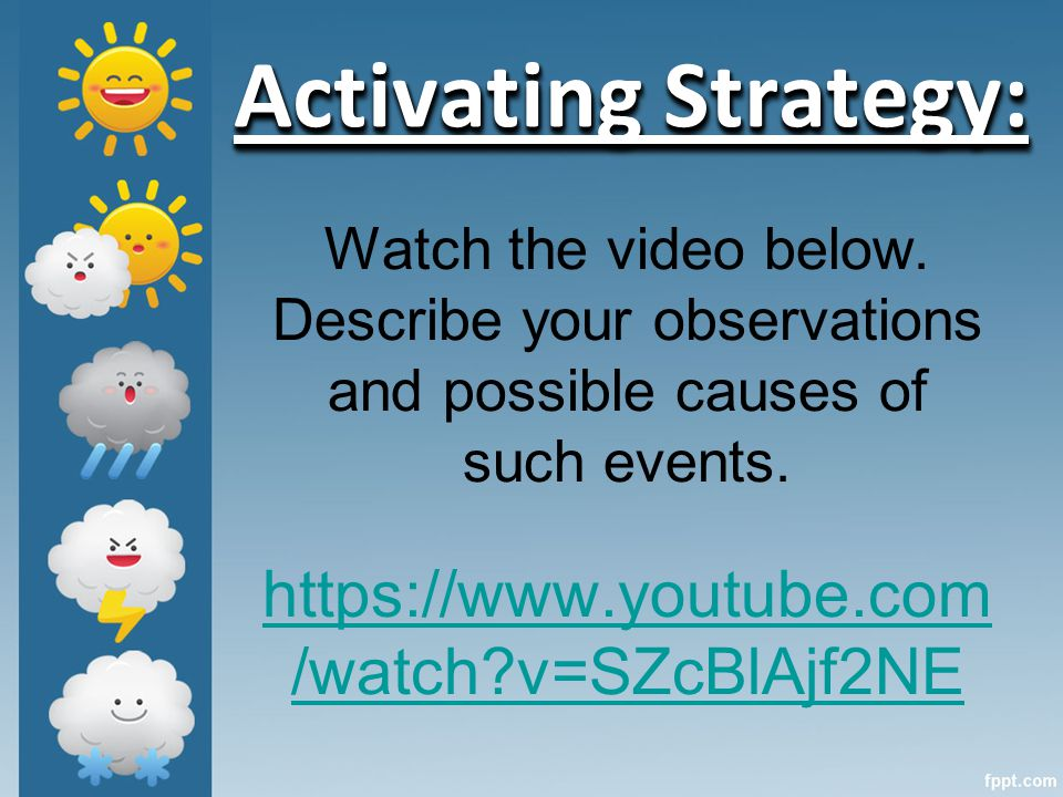 Watch the video below. Describe your observations and possible causes of such events.