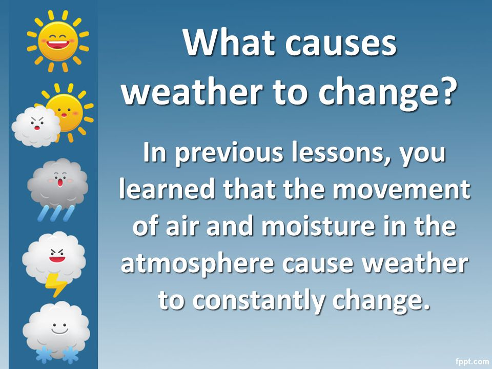 What causes weather to change.