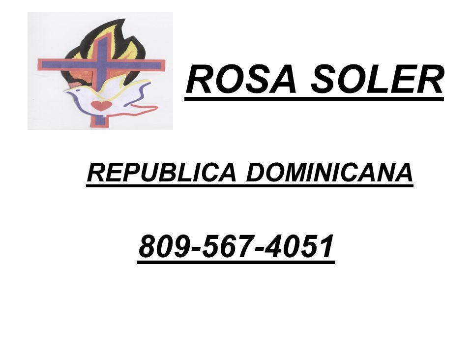ROSA SOLER REPUBLICA DOMINICANA 809-567-4051