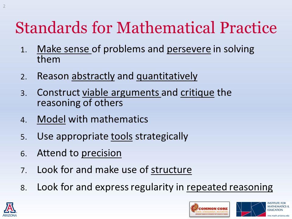 CCSSM National Professional Development Standards for Mathematical ...