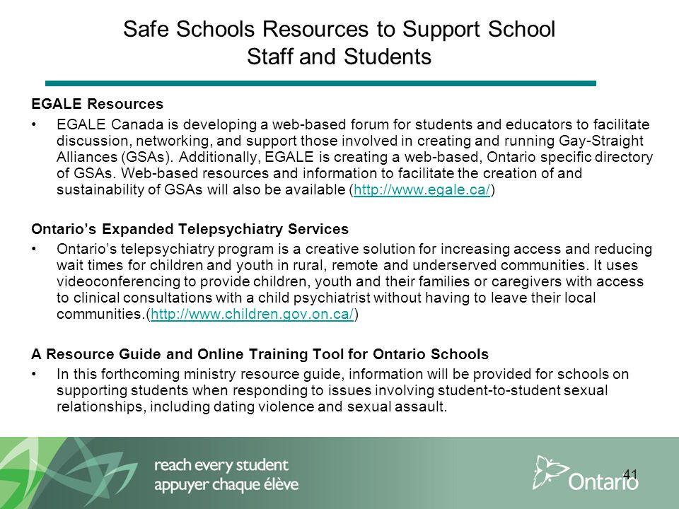 "Presentation ""Ministry of Education Safe Schools Training 2009."""