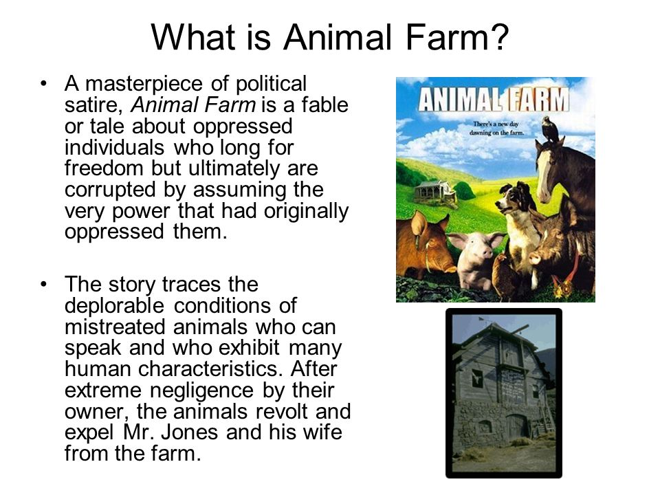 a study on animal farm as an animal satire