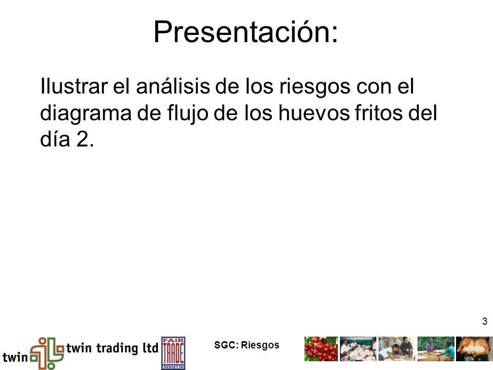 SGC: Riesgos 3 Presentación: Ilustrar el análisis de los riesgos con el diagrama de flujo de los huevos fritos del día 2.
