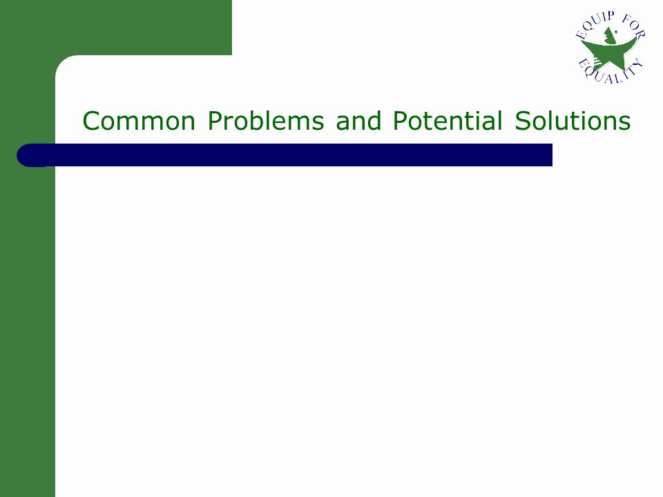 12 Common Problems and Potential Solutions