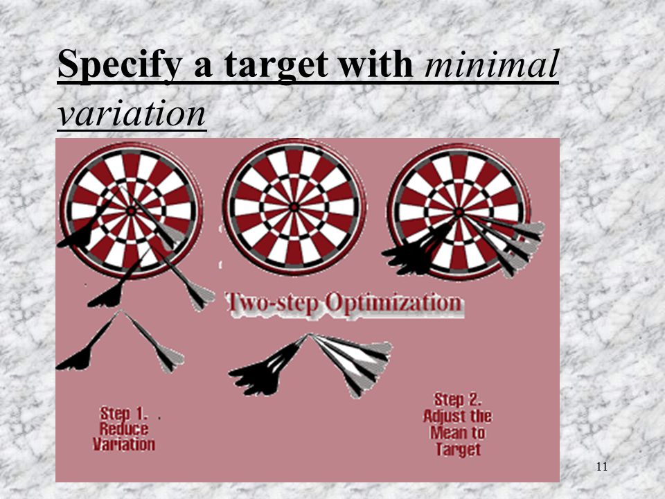 11 Specify a target with minimal variation