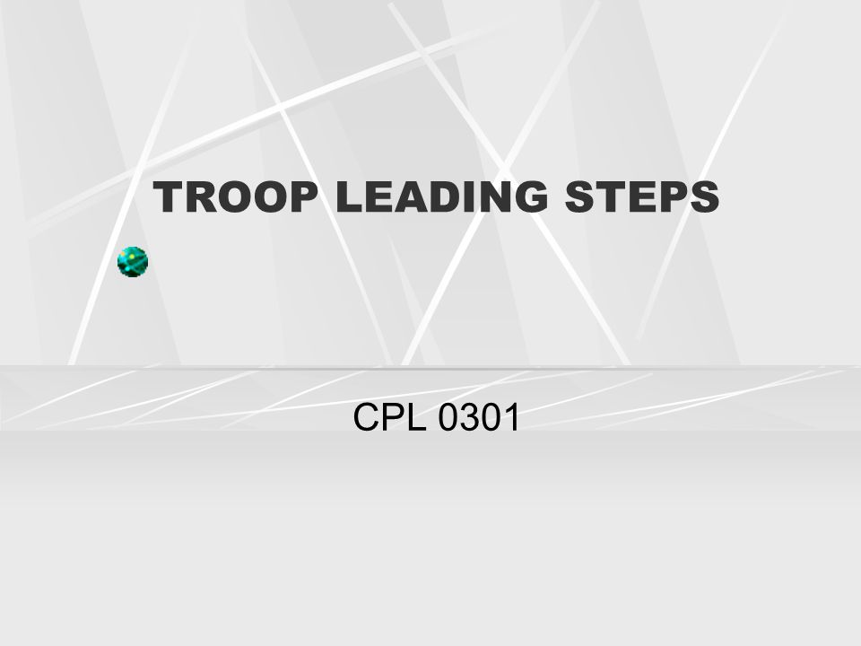 TROOP LEADING STEPS CPL 0301