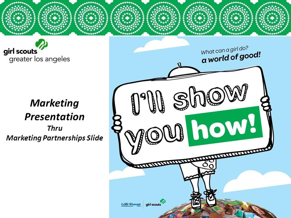Marketing Presentation Thru Marketing Partnerships Slide