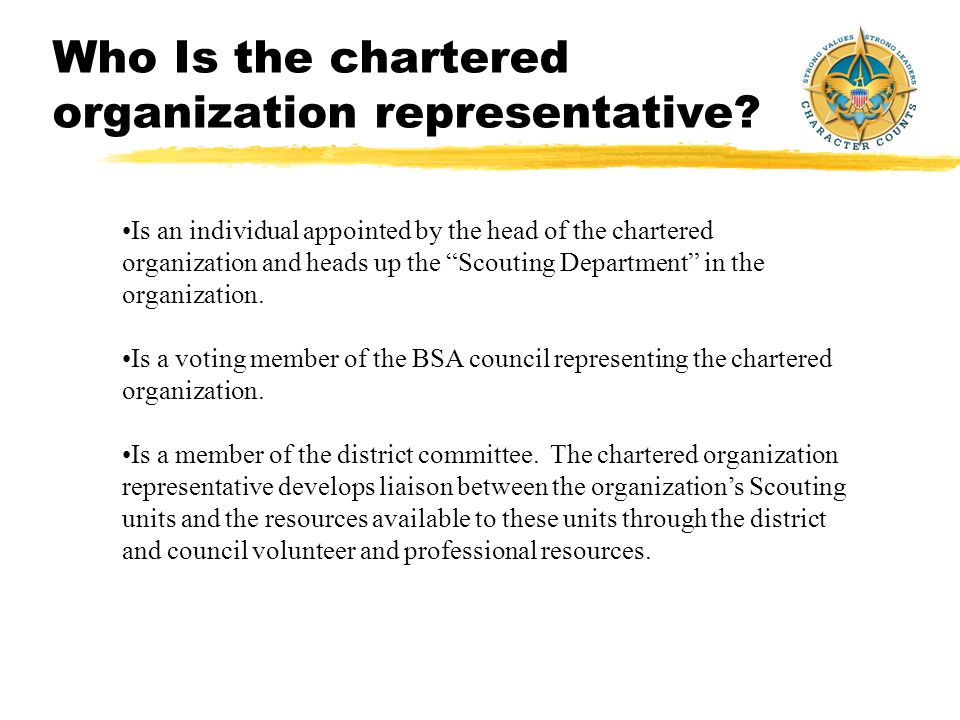 What Is A Chartered Organization.