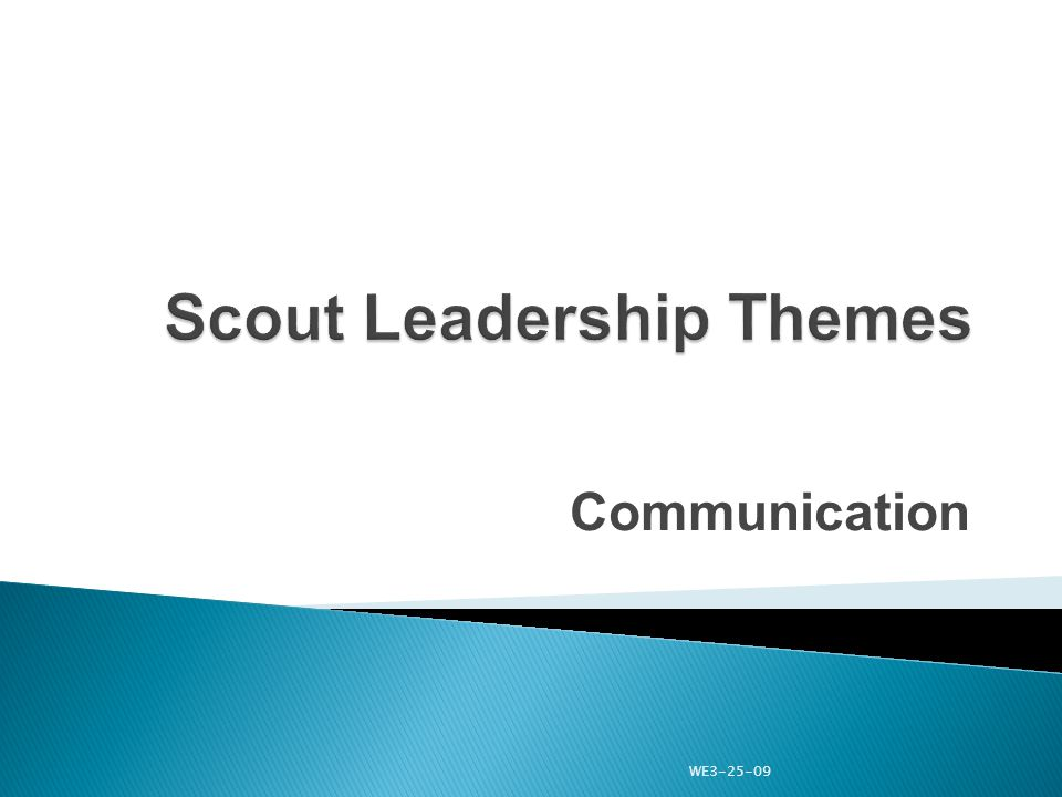 Communication WE3-25-09