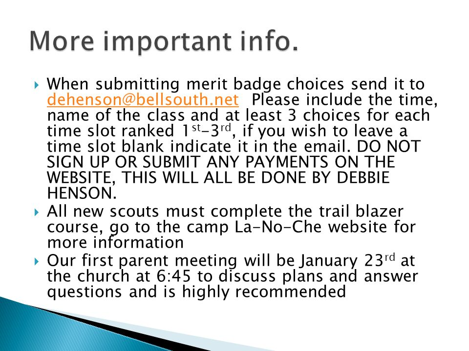 Summer camp 2012  For scouts not attending the Philmont High ...