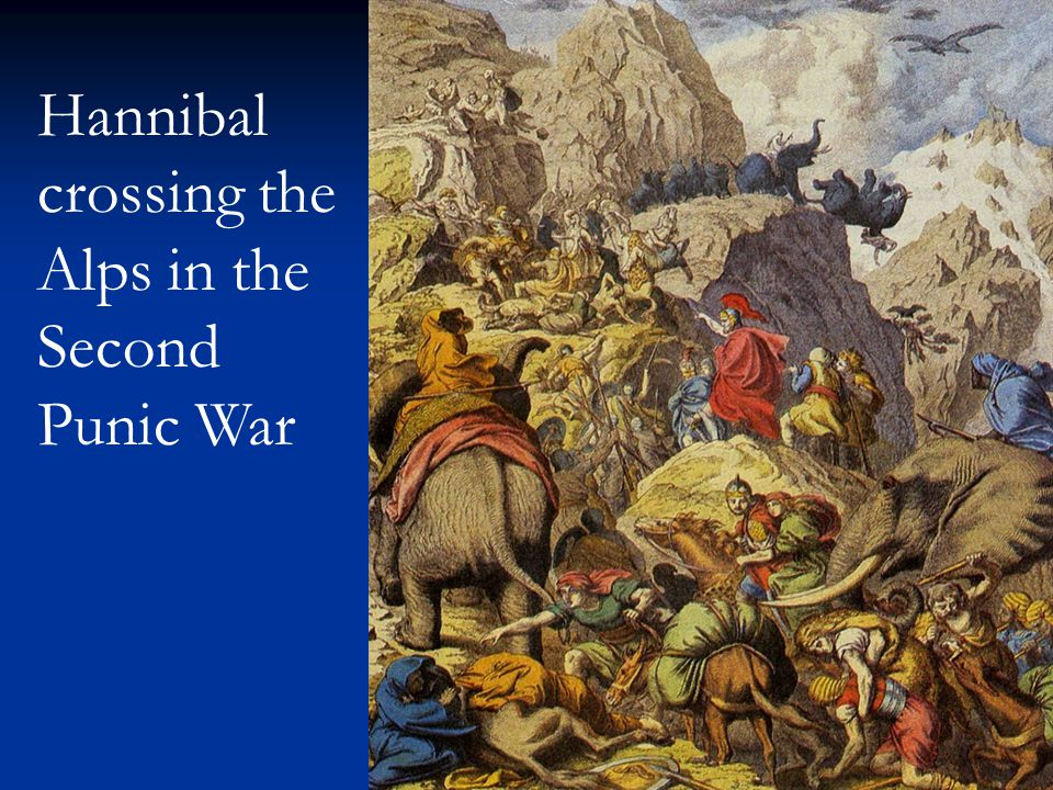 Hannibal crossing the Alps in the Second Punic War