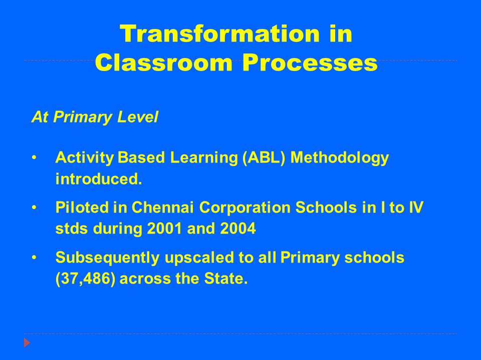 Features of ABL The process of learning under ABL is structured through a ladder system.