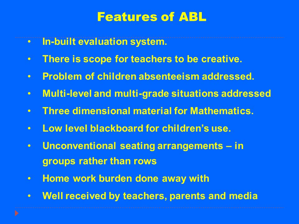 At Upper Primary Level As a parallel initiative, Active Learning Methodology (ALM) introduced in VI, VII and VIII stds in 12,000 upper primary schools.