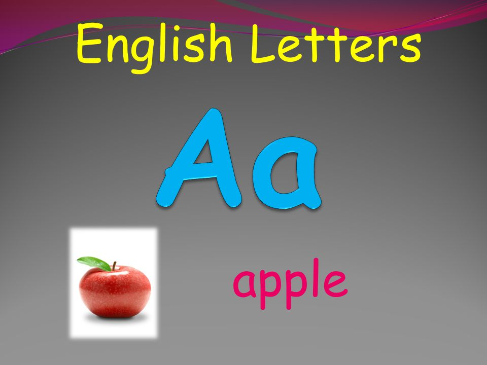 English Letters apple