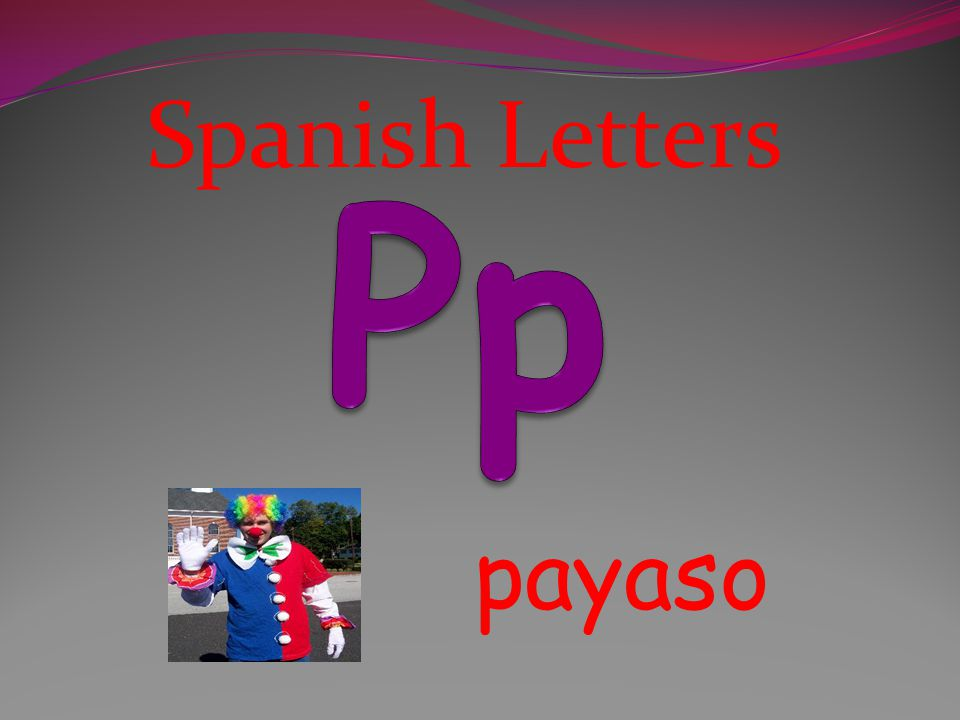 Spanish Letters oso