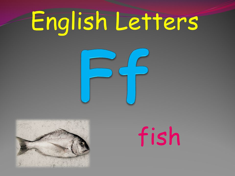 English Letters egg