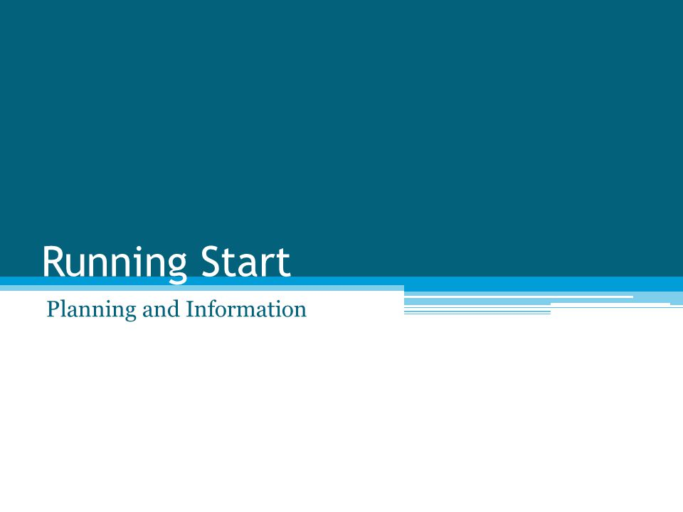 Running Start Planning and Information